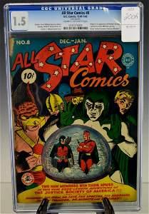 All-Star Comics #8 1st. Wonder Woman CGC 1.5