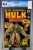 Incredible Hulk #1-1962 CGC 4.5