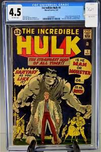 Incredible Hulk #1-1962 CGC 4.5