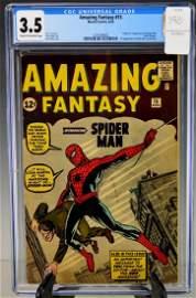 Amazing Fantasy #15-1962 CGC 3.5 1st Spider-Man