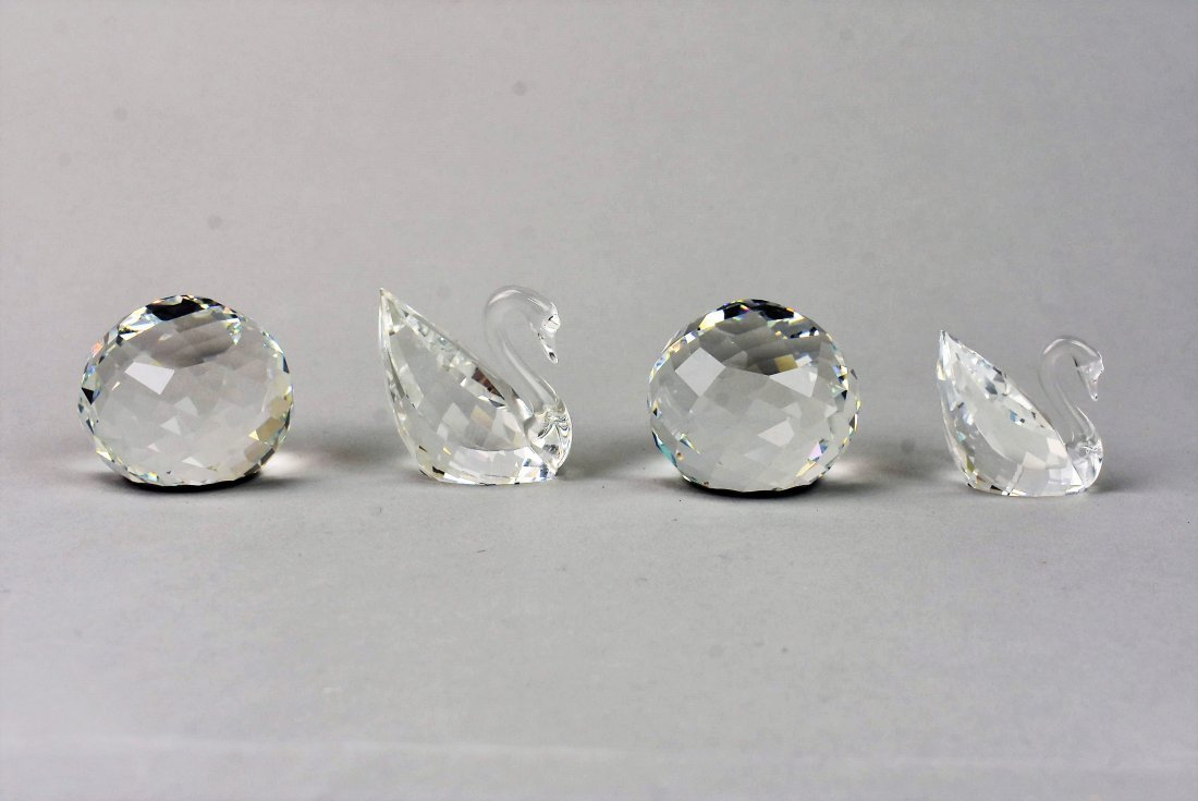 Swarovski Silver Crystal Swan Grouping