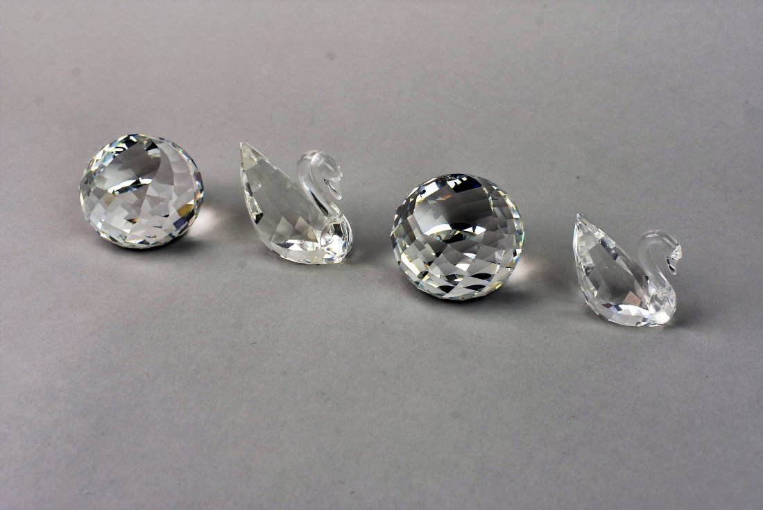 Swarovski Silver Crystal Swan Grouping - 2