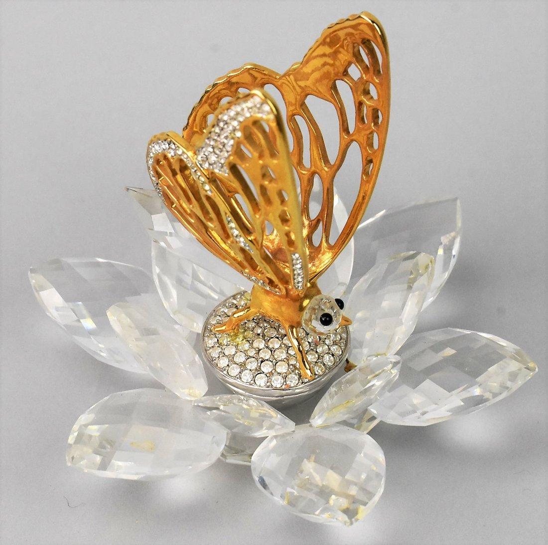 Swarovski Crystal Butteryfly In Flight - 6