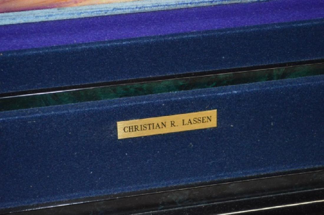 Signed Christian R. Lassen Framed Artwork - 7