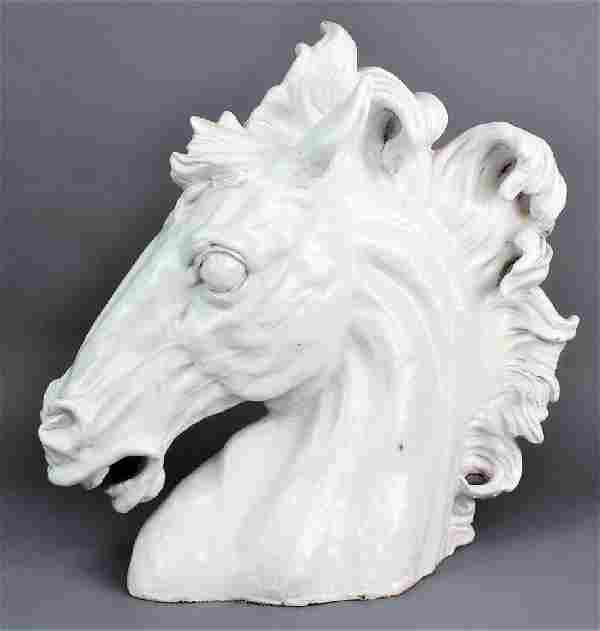 Mid Century Terracotta Horse Head