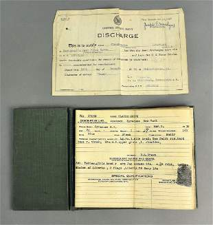 WWI Discharge Papers Military Grouping