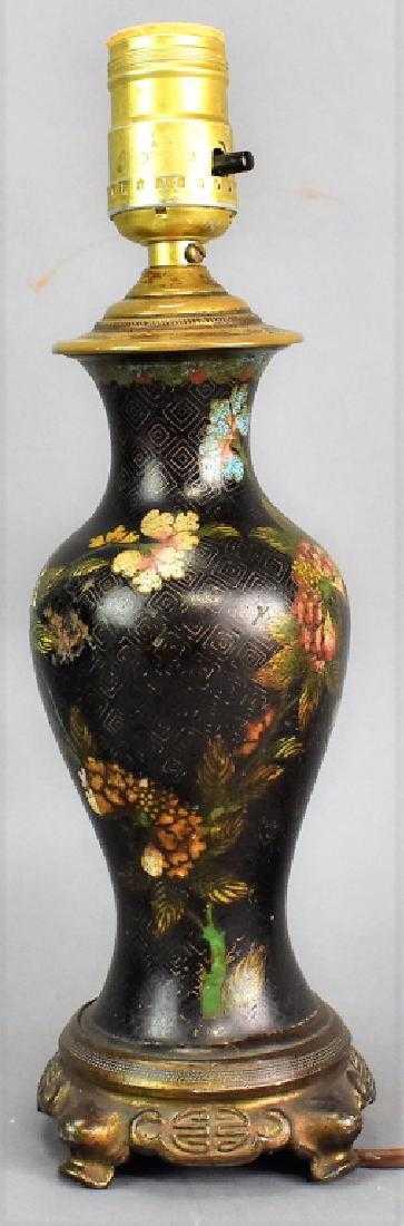 Antique Japanese Cloisonne Vase Lamp