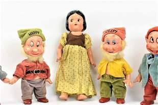 Disney Knickerbocker 1938 Snow White Seven Dwarves