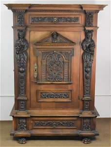 Tony Gambinos Antique Carved Continental Cupboard