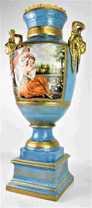 Monumental Sevres French Porcelain Vase