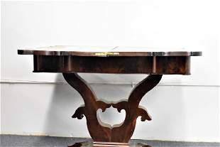 Antique Mahogany Empire Game Table
