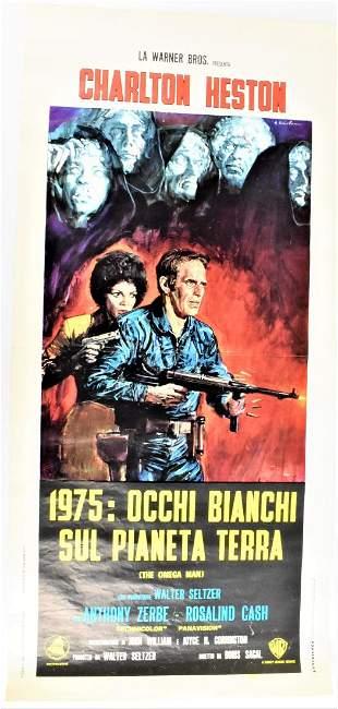 Original Italian Omega Man Movie Poster