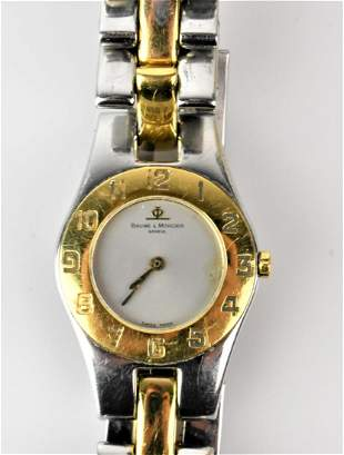 Baume and Mercier Ladies Stainless Gold Watch