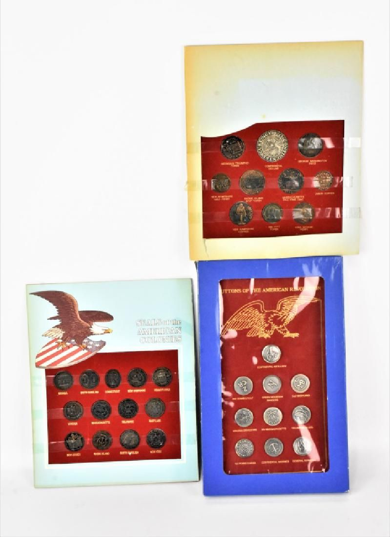 American Coin, Seals, and Buttons Grouping