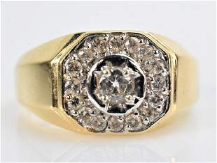 14K Gold and Diamond Ring
