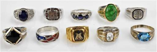 Sterling Silver Ring Grouping