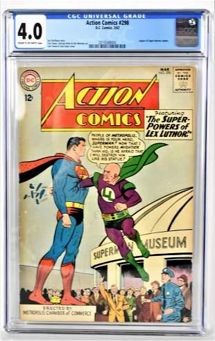 Action Comics 298 CGC 40 1963