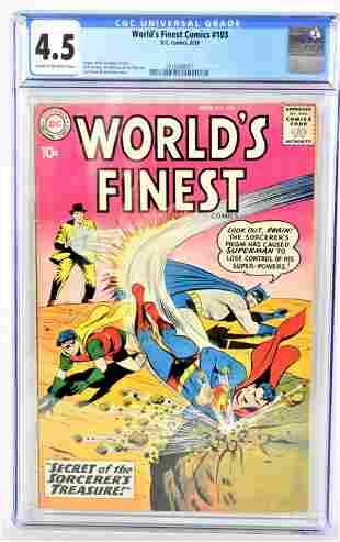 Worlds Finest 103 CGC 45 1959