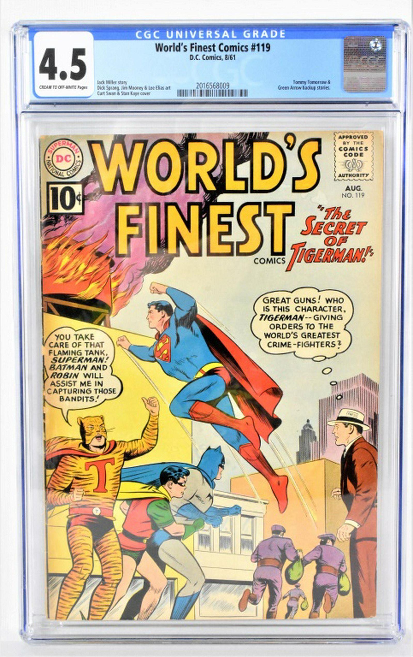 Worlds Finest #119 CGC 4.5 1961