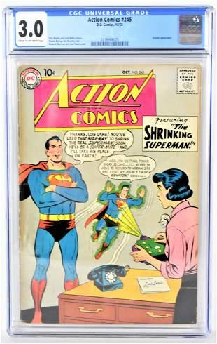 Action Comics 245 CGC 30 1958