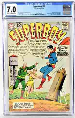 Superboy 100 CGC 70 1962