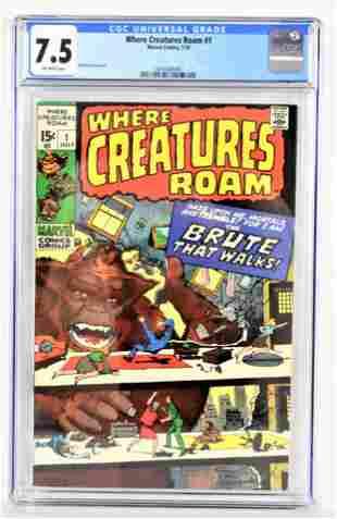 Where Creatures Roam 1 CGC 75 1970