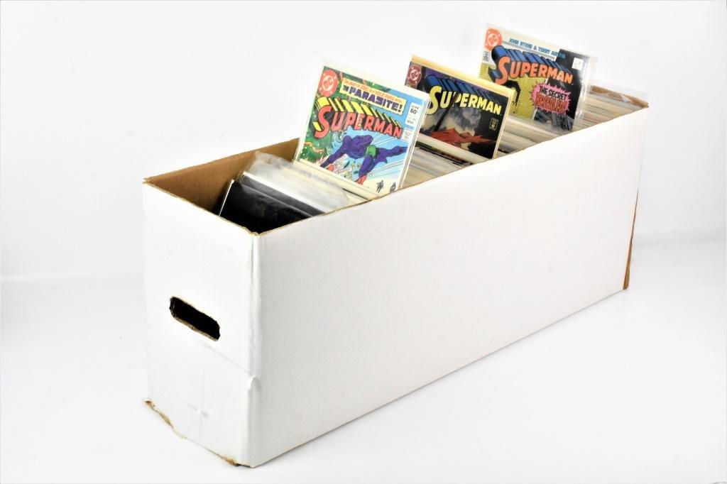 One Long Box of Assorted Superman Comics