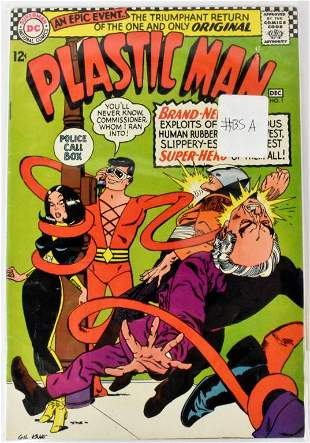 Plastic Man 1 7 1966 67 Golden Silver Age