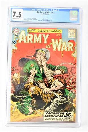 Our Army at War #84 7/59 cgc 7.5