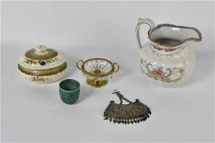 French Crystal, Silver, & Porcelain Grouping