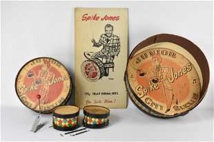 Rare Spike Jones Junior City Slickers Drum Set