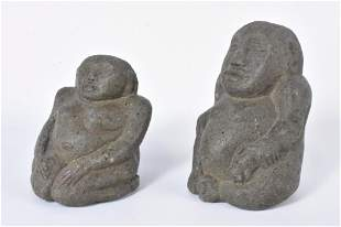 Antique Carved Stone Figure Grouping