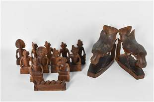 Indonesian Wood Carving Grouping