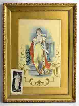Silk Embordiery of Queen Louisa of Prussia