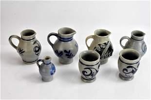 Westerwald Stoneware Pottery grouping