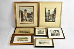 Antique Etching and Print Grouping