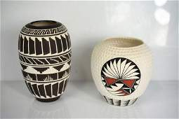 Acoma Pueblo American Indian Pottery Grouping