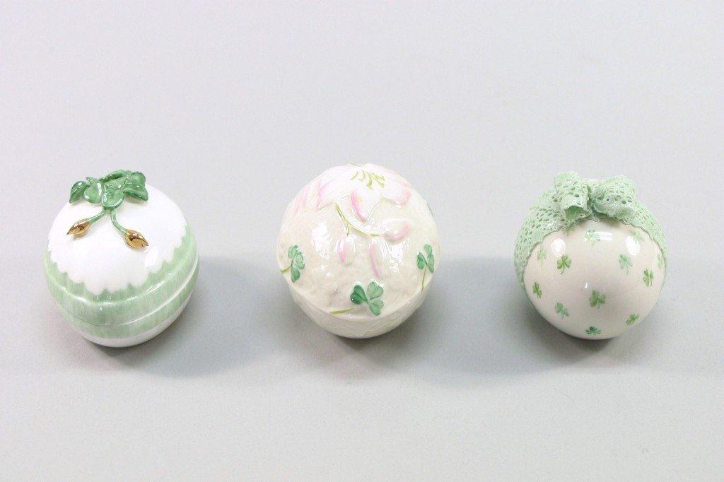 4: Porcelain Egg Lot- Irish Dresden, Belleek