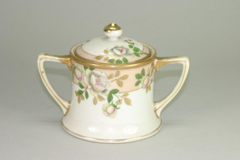 15: Hand Painted Nippon Porcelain sugar bowl