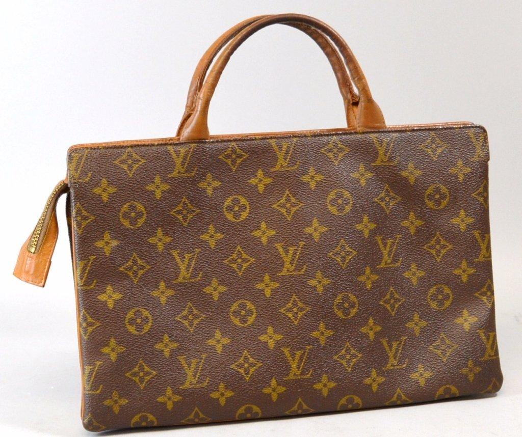10: Vintage Authentic Louis Vuitton Leather Trim Monog
