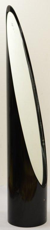 17: 70's Cheval Mirror Black plastic Tube