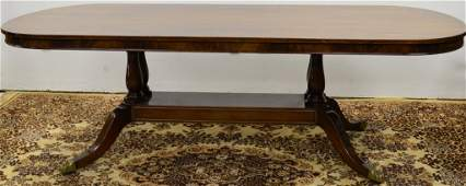 445: Regency Style Dining Table Schmieg and Kotzian