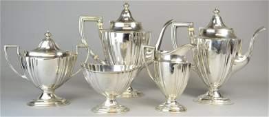 564: 5 Pc Gorham Sterling Silver Tea & Coffee Service