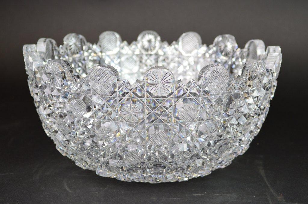 Colorless Brilliant Cut Glass Bowl