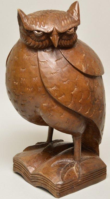Luis Potosi Carved Ecuadorian Wood owl