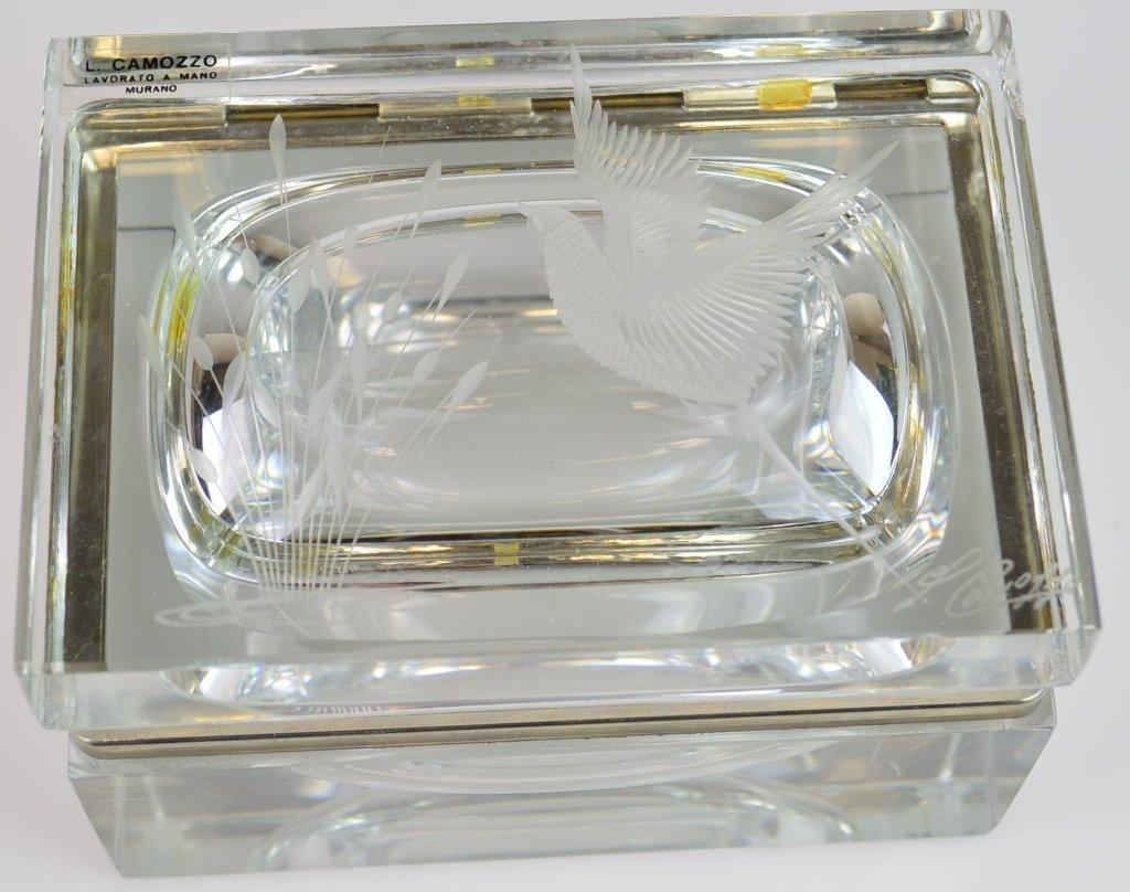 Murano Glass Dresser Box Artist signed L. Camozzo