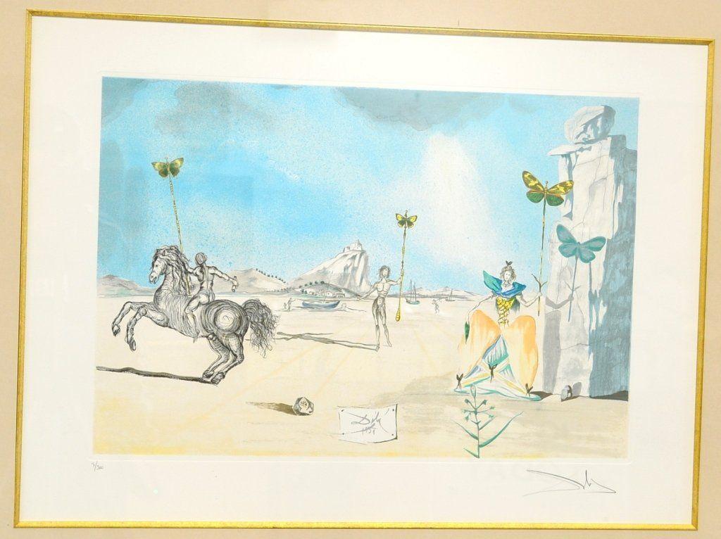 Salvador Dali Chevalier Aux Papillons