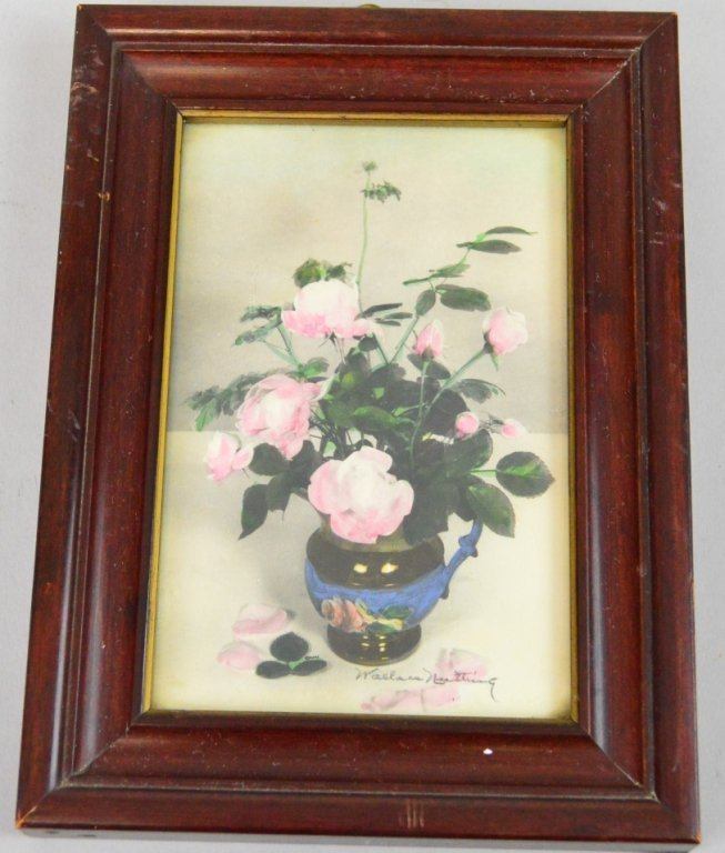 Wallace Nutting Closed Framed Floral Miniature