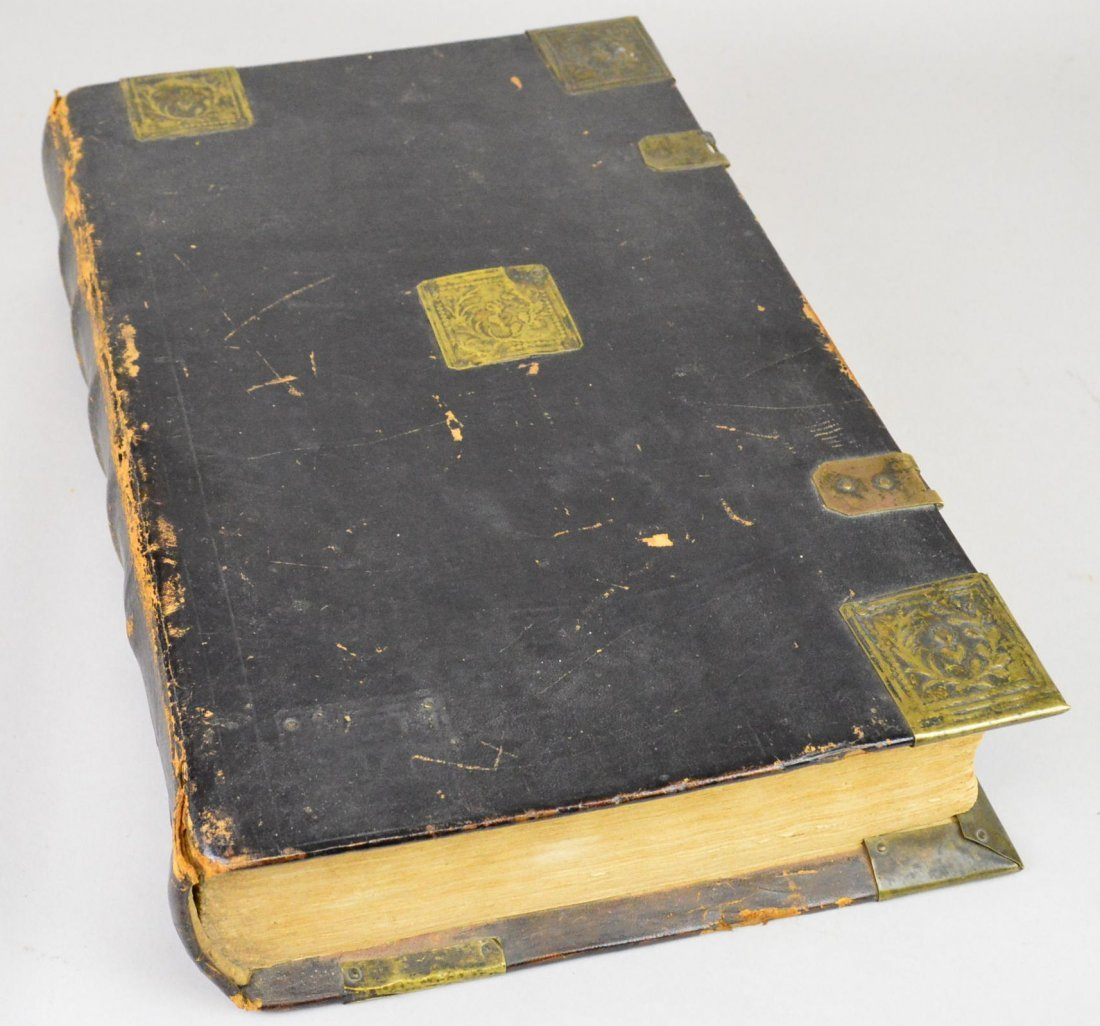 Large 18th Century German Lutheran Bible