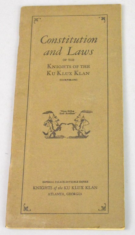 Knights of the Ku Klux Klan Constitution and Laws
